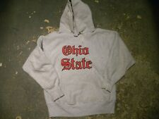 Distressed Ohio State Vintage Hoodie 80's 1980's Champion Reverse Weave  L