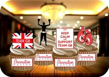 Olympics Team GB Boxing Mix 12 Edible STANDUP Cake Toppers Decoration Knockout
