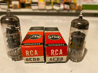 Lot Of 2  6EB8 VINTAGE ELECTRON VACUUM TUBES RCA TUNG-SOL NOS STRONG