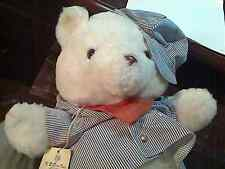 Vintage KB BROS.Train Conductor Bear All Aboard The Pot Belly Express N.Y. 1980
