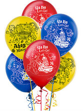 Jake And The Never Land Pirates LATEX BALLOONS Pack Of 6 Helium Quality 12 Inch