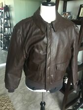 Cooper A-2 Brown Flight US Air Force Bomber Leather Goatskin Jacket 💎 46R XL