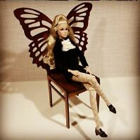 """WINGS Butterfly Chair for BRB FR FR2 BJD Dolls 12"""" 1/6 furniture wooden diorama"""