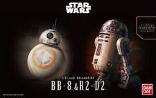 Star Wars Plastic Model Kit 1/12 BB-8 & R2-D2 Bandai Japan NEW **