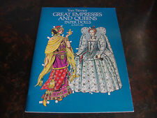Great Empresses & Queens-Paper Dolls-Dover-1982-Uncut-Ti erney-9x12