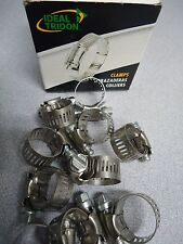 IDEAL Box of 10 Tridon Hose Clamps Size #006 9/22 mm, New