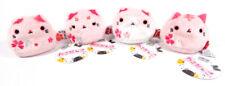 "Lot of (4) Neko Dango Sakura 3"" Plush Series 1 Toys ~ MARO Sakura Suko Tora"