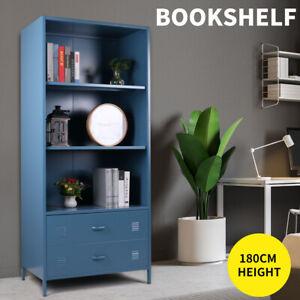 Metal Storage Shelf Bookshelf Bookcase Display Cabinet Home Office Stand Rack