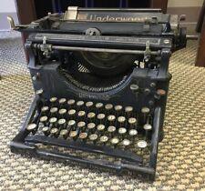 Vintage Underwood No. 4 Standard Typewriter Antique Industrial Decor Patent 1913