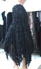 Diktons S Stupendous Black Layers Sheers Swing Tassels Skirt Sassy & Magnificent