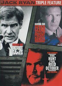 Patriot Games, Hunt for Red October Triple Feature Brand New DVD Sean Connery