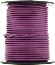 Xsotica® Magenta Round Leather Cord 1 mm 10 meters (11 yards)