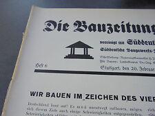 1939 Bauzeitung 6 / Stadtwerke Düsseldorf / Leipzig Baumesse Musterhäuser