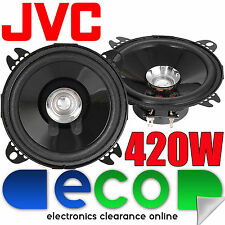 "JVC 420 Watts 4"" Inch 10cm Dual Cone Car Van Truck Door Dash Speakers New Pair"