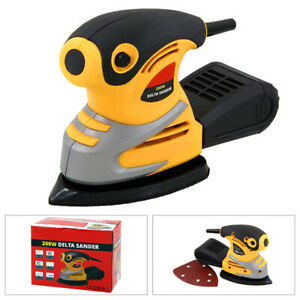 HEAVY DUTY 200W ELECTRIC PALM MOUSE DELTA DETAIL SANDER WITH DUST COLLECTION BOX