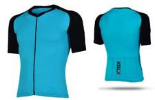 XTECH Maglia PODIUM Blu-Nera Manica Corta Estiva Ciclismo Running Moto TG S-M