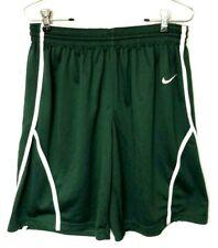 Mens Vtg Nike Shorts Soccer Basketball Medium Green White Draw Sting Elastic