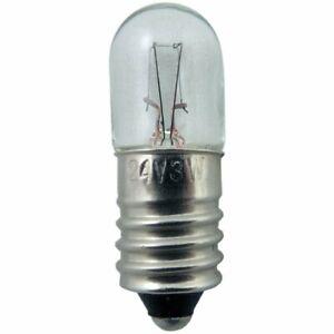 10 x MES Screw Base E10 Lamp Bulb 10mm Diameter 24V 80MA