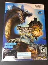 Monster Hunter Tri Bonus Edition W/ Wii Classic Controller Pro (Wii) NEW