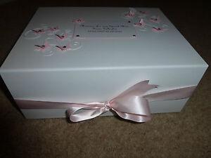 Personalised Mothers Day Condolence Bereavement memorial Keepsake Box Memory Box