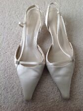 Ivory satin shoes, worn once, UK 5