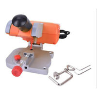 110V Mini Bench Cut-off Saw Steel Blade Cutting Metal Wood Plastic + Miter Gauge