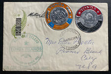 1968 Niuafoou Tonga Toga Tun Can Canoe Mail Cover To California USA Metallic Sta