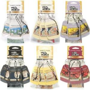 Yankee Candle 3 Pack Car Jar Home Air Freshener Fragrance Scent Cupboard