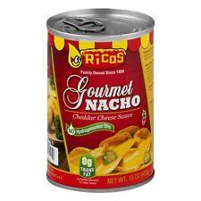 (6 Pack) Ricos Gourmet Nacho Cheddar Cheese Sauce, 15.0 Oz