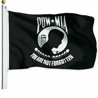 POW-MIA Black Flag You are Not Forgotten Prisoner of War 3x5ft