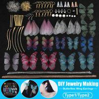 1 Set DIY Handmade Earrings Dragonfly Butterflies Wings for Earring Making Craft