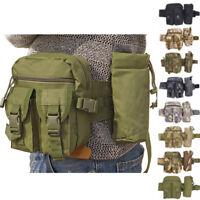 Tactical Water Bottle Belt Bag Pack Waist Bag Bum Pouch Hiking Camping Outdoor