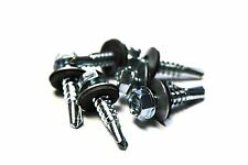 (500) 12x1 Unslotted Self Drilling Hex Head Sheet Metal Screws Neoprene Washer