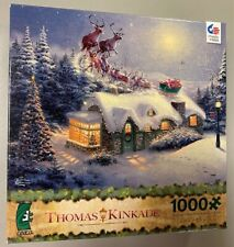Thomas Kinkade 1000 Piece Ceaco Jigsaw Puzzle, Santa Sleigh Reindeer Dash Away