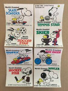 Ferrero galleta sammelbild Peanuts 1977 sticker Linus y Snoopy
