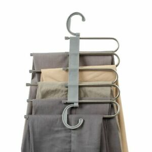 Space Saving Slack Hangers Organizer for Clothes Trousers Jeans Shirts Pants NEW