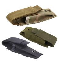Tactical Military Molle Belt Vest Pistol Magazine Bag Pouch Flashlight Sheath