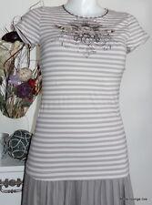 Vive Maria Shirt Bluse Rock me Tender S 36 grey stripes Streifen grau beige crem