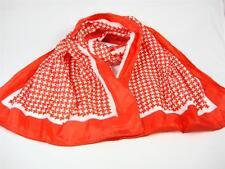 Glentex scarf Head belt wrap checker star shape white bright red color New