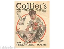 Boy And His Pigeons Colliers 1921 Cover  Refrigerator / Tool  Box  Magnet