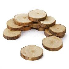 100pcs Rustic Natural Round Wood Pine Tree Slice Disc Wedding Centerpiece Decor