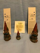 3 Tom Clark Cairn Gnomes - Clarence - Clarence w/ wings - Lil' Clarence 2 Signed