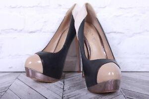 Stiletto Court Pumps High Heels ALDO RRP £89 EU 39 Black Silver Beige Platform