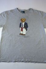 Polo Ralph Lauren Polo Bear Graphic T-shirt Size M grey suit vintage vtg