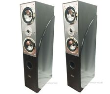 PAIR DIGITAL AUDIO 1400 WATTS HOME THEATER FLOOR STANDING TOWER OAK SPEAKERS NEW