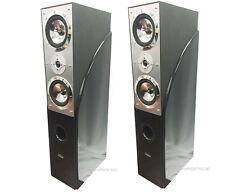 "PAIR DIGITAL AUDIO 10"" 1400 WATTS HOME THEATER TOWER OAK SPEAKERS NEW"