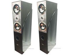 PAIR DIGITAL AUDIO 1400 WATTS HOME THEATER FLOOR STANDING TOWER OAK SPEAKERS NEW