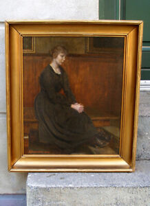 Sophus Jurgensen (1873) A Studio Interior with Young Lady. Dated 1918. Must see!