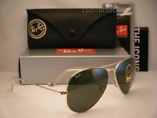 Ray Ban 3025 Aviator Large Gold w Green Crystal (G-15) Lens (RB3025 001 62mm)