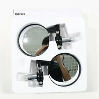 """1 Pair Motorcycle Round 7/8"""" Handle Bar End Rotatable Rear View Side Mirrors"""